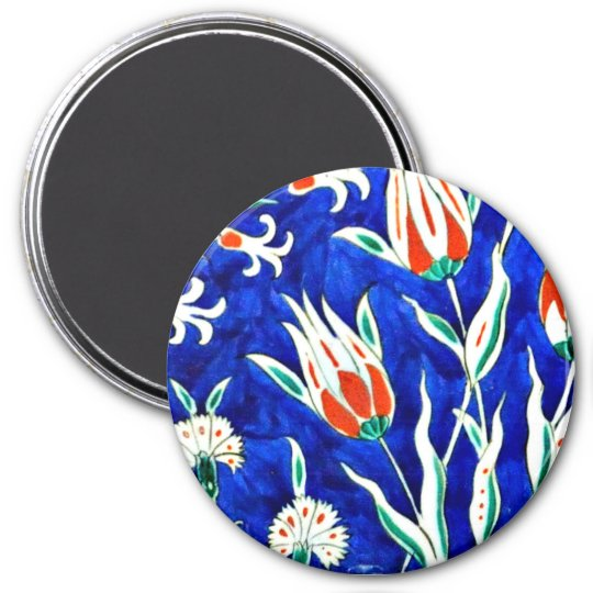 Beautiful garden (tulips) 7.5 cm round magnet