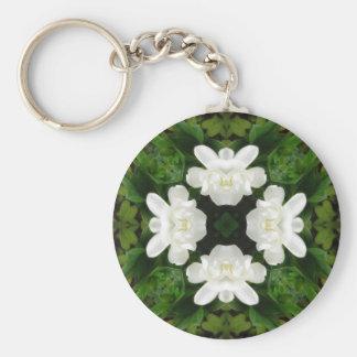Beautiful Gardenia 5 Kaleidoscope 2 Keychains