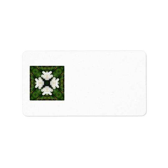 Beautiful Gardenia 5 Kaleidoscope 2 Label