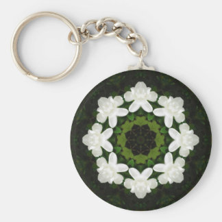 Beautiful Gardenia 5 Kaleidoscope 4 Key Chains