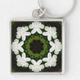 Beautiful Gardenia 5 Kaleidoscope 4 Key Chain