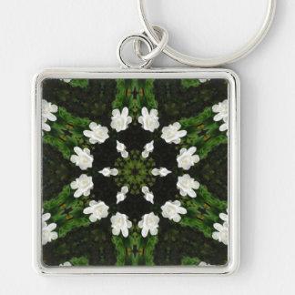 Beautiful Gardenia 5 Kaleidoscope 7 Keychain