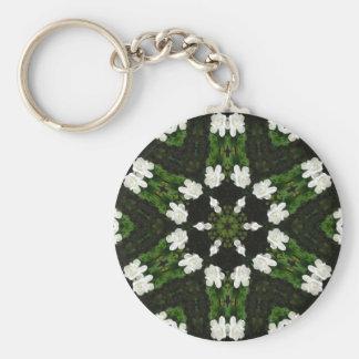 Beautiful Gardenia 5 Kaleidoscope 7 Keychains