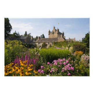 Beautiful gardens and famous castle in photo print