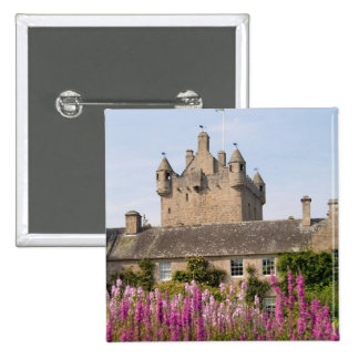 Beautiful gardens and famous castle in Scotland 2 15 Cm Square Badge