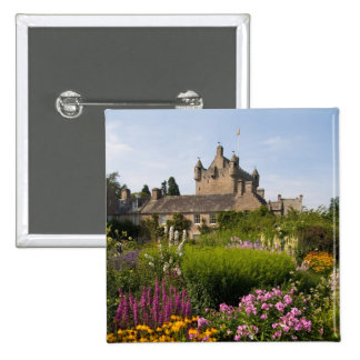 Beautiful gardens and famous castle in Scotland 15 Cm Square Badge
