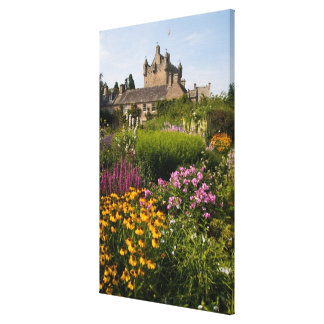 Beautiful gardens and famous castle in Scotland Canvas Print