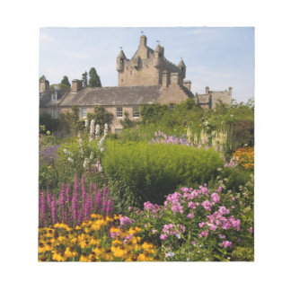 Beautiful gardens and famous castle in Scotland Notepad