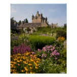 Beautiful gardens and famous castle in Scotland Poster