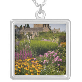 Beautiful gardens and famous castle in Scotland Silver Plated Necklace