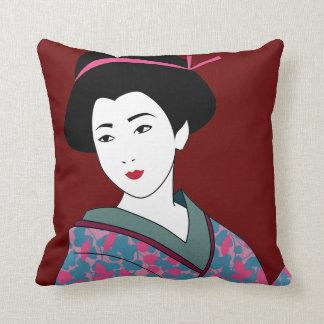 Beautiful Geisha Custom Cushion
