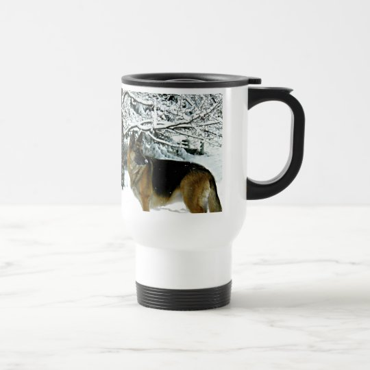 Beautiful German Shepherd Commuter Coffee Mug