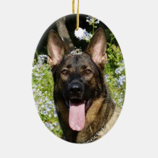 Beautiful German Shepherd dog Christmas Ornament