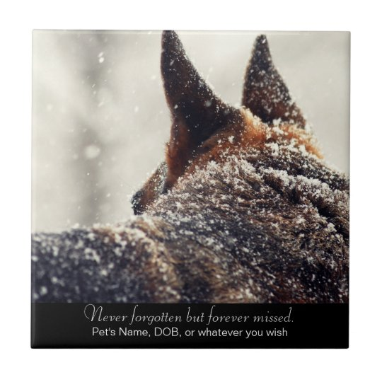 Beautiful German Shepherd Memorial Ceramic Tile
