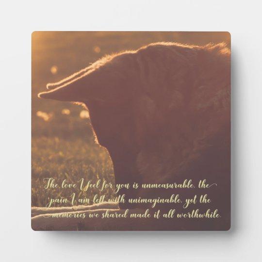 Beautiful German Shepherd Pet Memorial Plaque