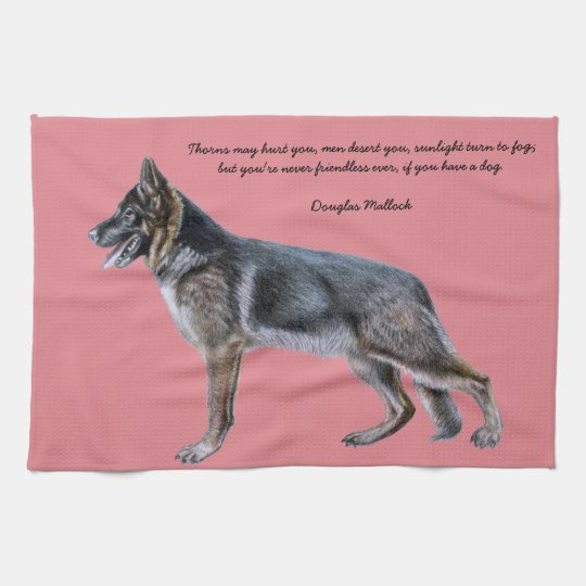 Beautiful German Shepherd towel with Poem