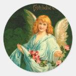 Beautiful German Vintage Easter Angel Round Sticker