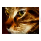 Beautiful Ghostly Fire Cat Card