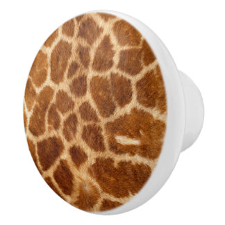 Beautiful Giraffe Coat Pattern Ceramic Knob