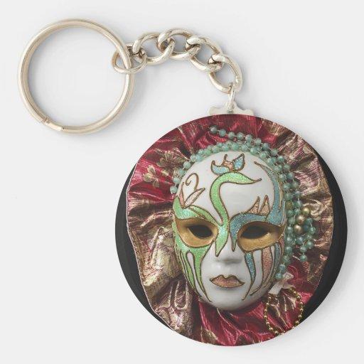 Beautiful Girl Carnival Mask Keychain