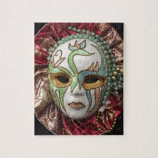 Beautiful Girl Carnival Mask Jigsaw Puzzles