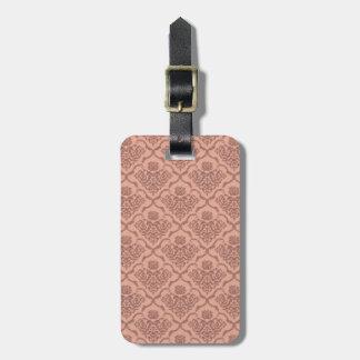 Beautiful girly elegant vintage damask pattern bag tag