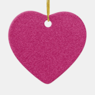 Beautiful girly hot pink glitter effect background ceramic heart decoration