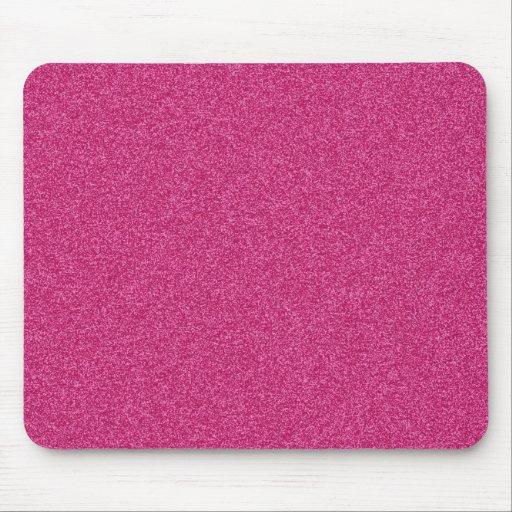 Beautiful girly hot pink glitter effect background mouse pad