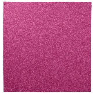 Beautiful girly hot pink glitter effect background napkin