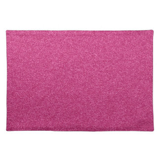 Beautiful girly hot pink glitter effect background placemat