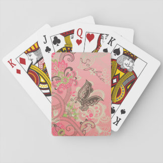Beautiful girly trendy vintage lace floral poker deck