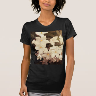 beautiful girly white flowers spring blossoms t-shirt
