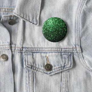 Beautiful Glamour Dark Green glitter sparkles 6 Cm Round Badge