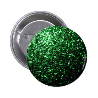 Beautiful Glamour Green glitter sparkles 6 Cm Round Badge