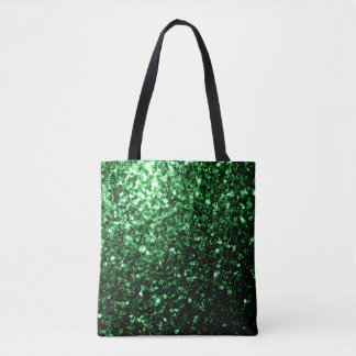 Beautiful Glamour Green glitter sparkles Tote Bag