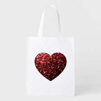 Beautiful Glamour Red Glitter sparkles Heart