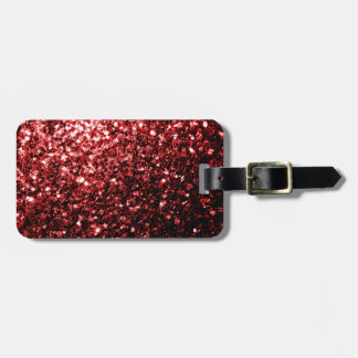 Beautiful Glamour Red Glitter sparkles Luggage Tag