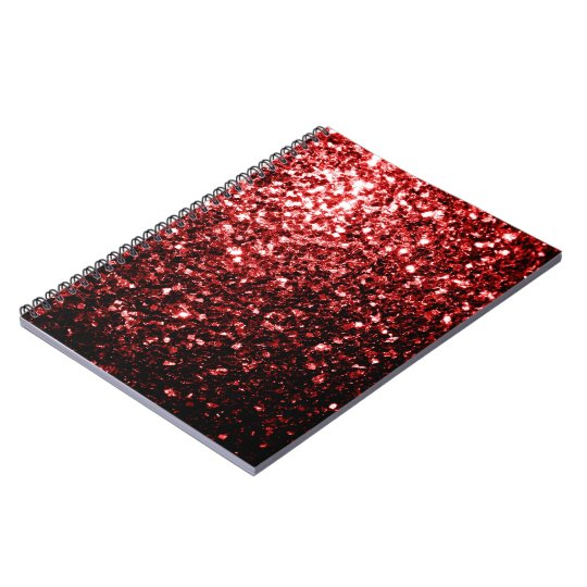 Beautiful Glamour Red Glitter sparkles Spiral Notebook