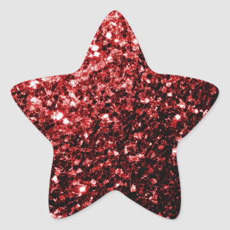 Beautiful Glamour Red Glitter sparkles Star Sticker