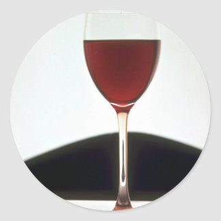 Beautiful Glass filled with red wine Classic Round Sticker