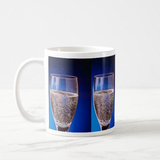 Beautiful Glass of sparkling white wine Coffee Mug