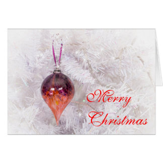 Beautiful Glass Pear Drop Bauble Christmas card