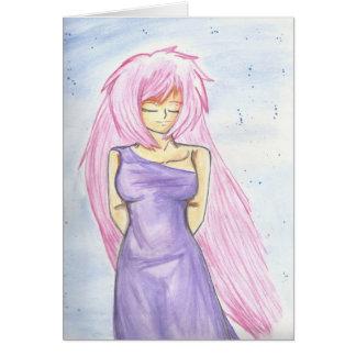 Beautiful Goddess Venus Greeting WaterColor Color Greeting Card
