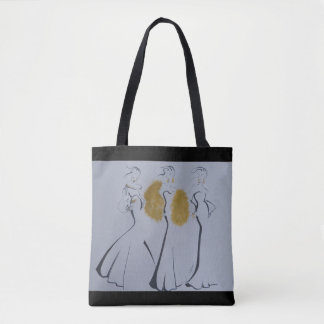 Beautiful Gold, Black & White Tote Bag