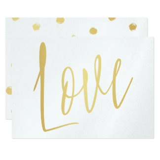 "Beautiful gold hand lettered ""Love"" Card"