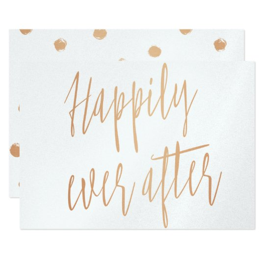 """Beautiful gold rose """"Happily ever after"""" Card"""