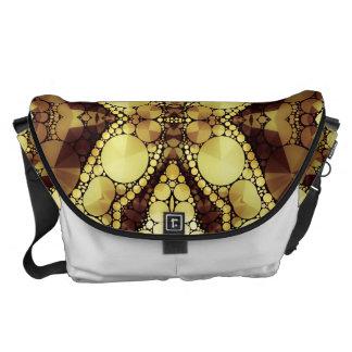 Beautiful Golden Abstract Messenger Bag