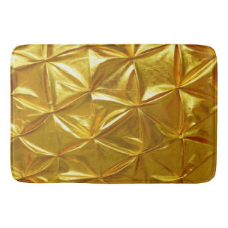 Beautiful Golden Colour Design Bath Mat