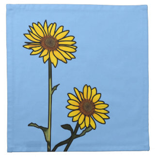 Beautiful Golden Stained Glass Sunflowers Napkin