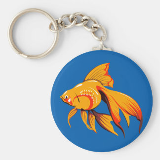 Beautiful Goldfish Key Ring